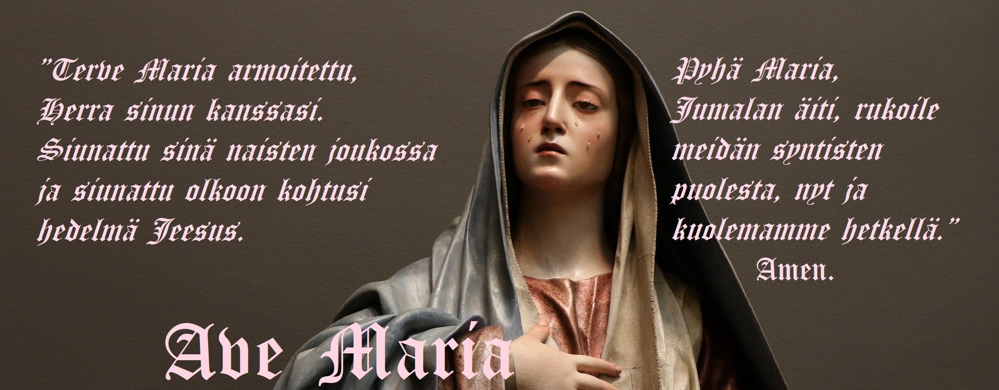 Ave Maria Suomeksi