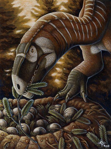 Plateosaurus pesällään