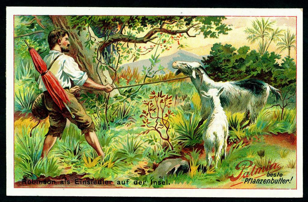 робинзон умеет ловить рыбу или собирать кокосы