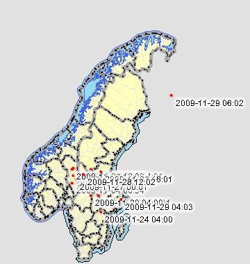 Maastokartta Ruotsi